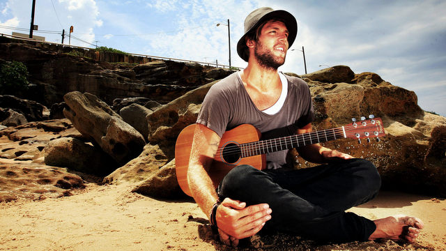 "SYDNEY, AUSTRALIA - JANUARY 28: (EUROPE AND AUSTRALASIA OUT) Joel Houston, of the rock band ""Hillsong United"" and son of the Hillsong Church founder and senior pastor Brian Houston is pictured on Maroubra Beach on January 28, 2010 in Sydney, Australia. (Photo by Craig Greenhill/Newspix/Getty Images) *** Local Caption *** Joel Houston"